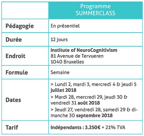 Programme summerclass